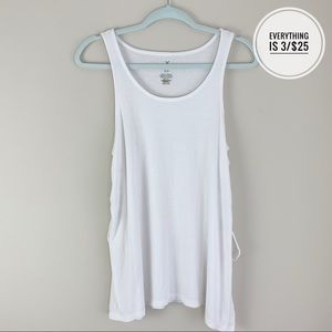 Soft & Sexy AEO White Tank Top with Lace Up Sides
